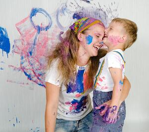 Mother & Son Painting