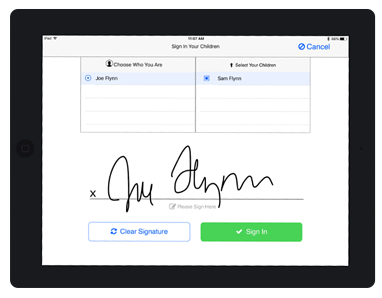 iPad Attendance App Signature Capture
