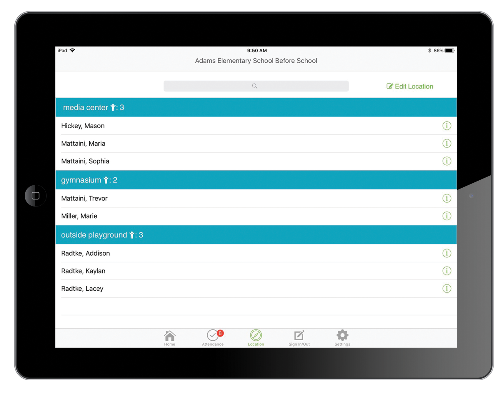 Eleyo's iPad Attendance App helps school age child care programs during fire drills and emergencies