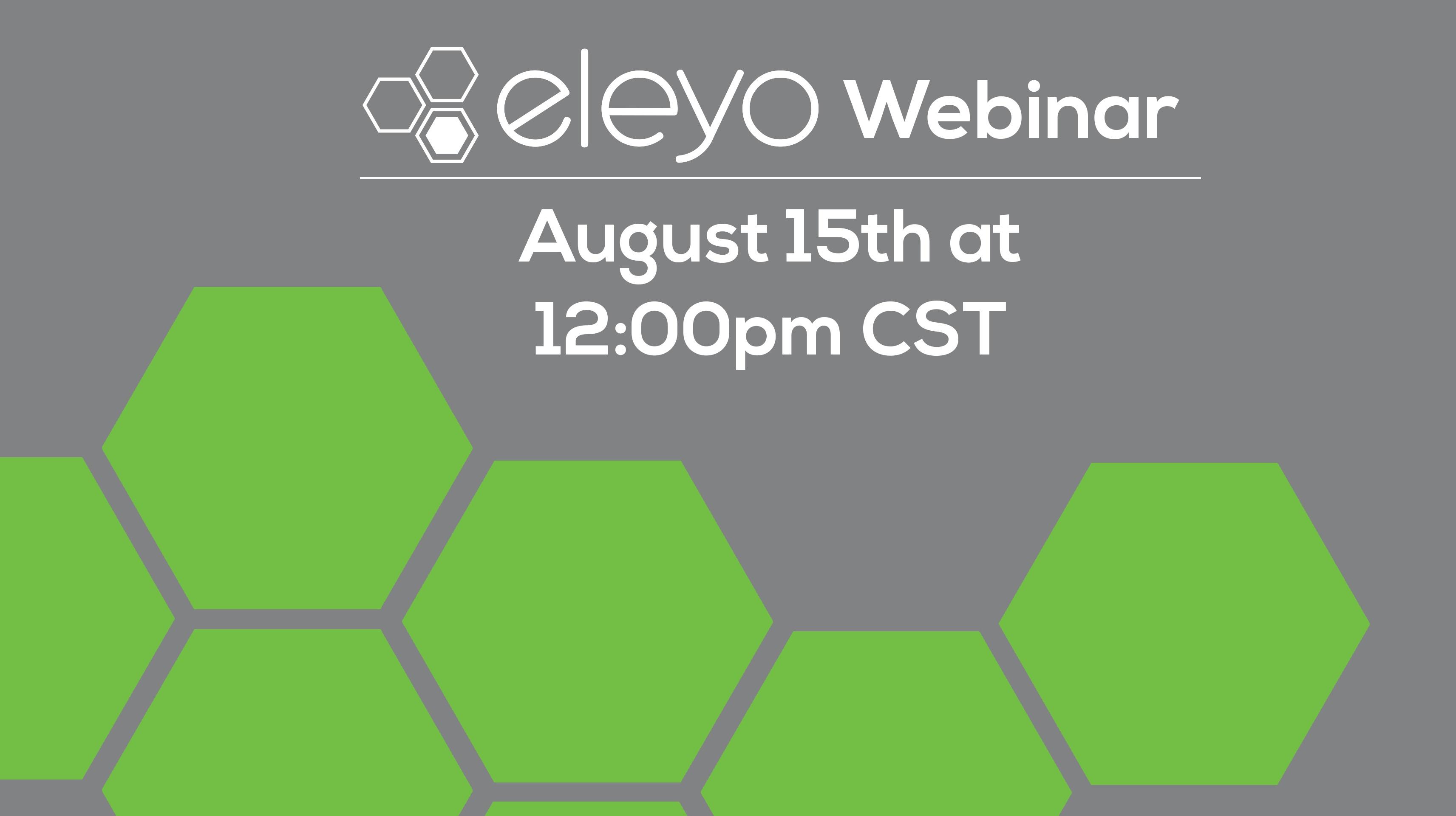 Eleyo: Simplify Program Management August 15th Webinar