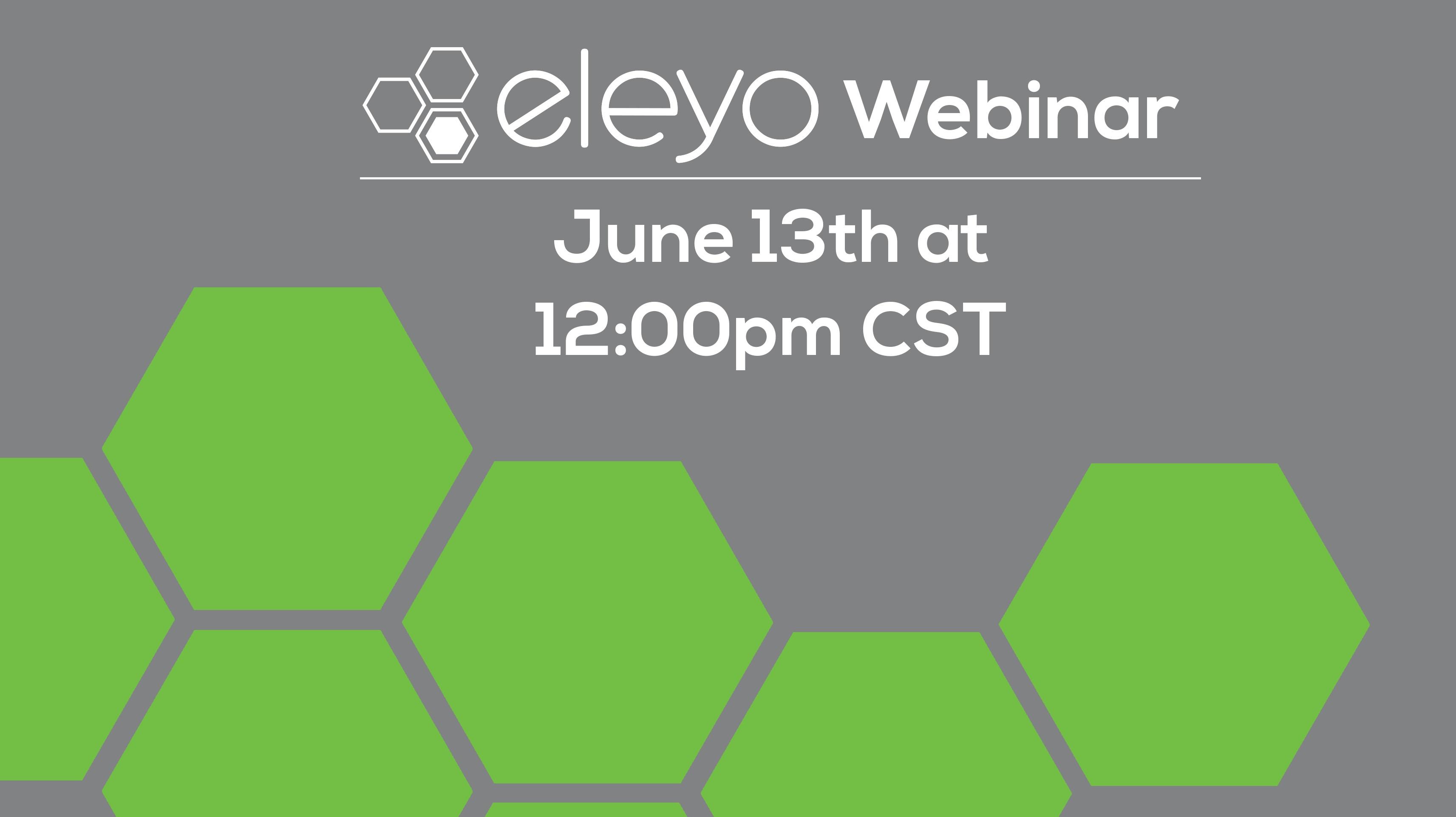 Eleyo: Simplify Program Management June 13th Webinar