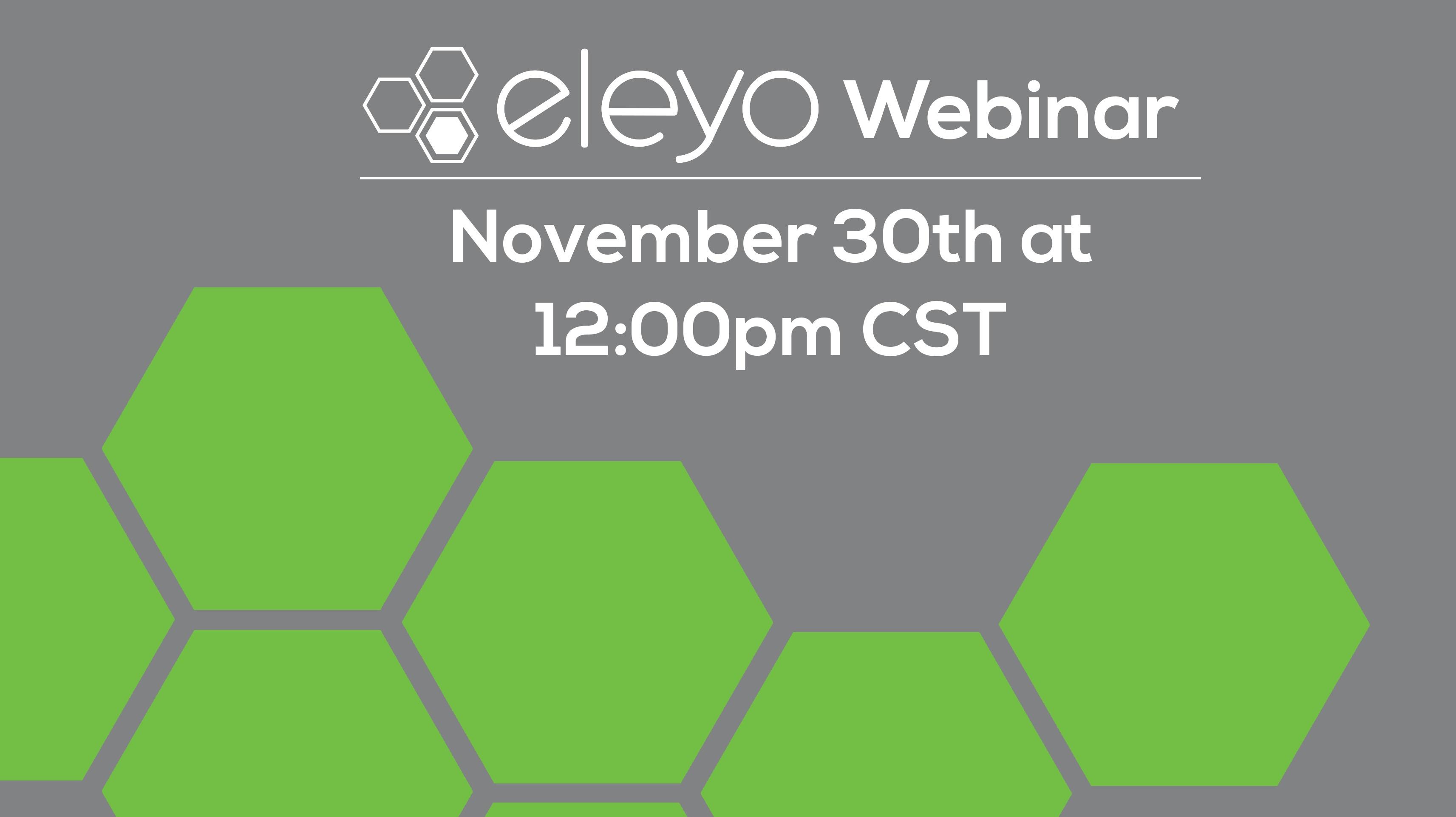 Eleyo: Simplify Program Management November 30th Webinar